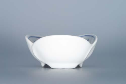 Cibulák miska trojlístek 7,3 cm originální cibulákový porcelán Dubí, cibulový vzor,