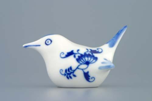 Cibulák Ptáček 2 malý 9 cm originální cibulákový porcelán Dubí, cibulový vzor,