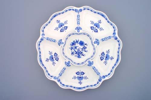 Cibulák Mísa šestidílná 35,2 cm originální cibulákový porcelán Dubí, cibulový vzor,