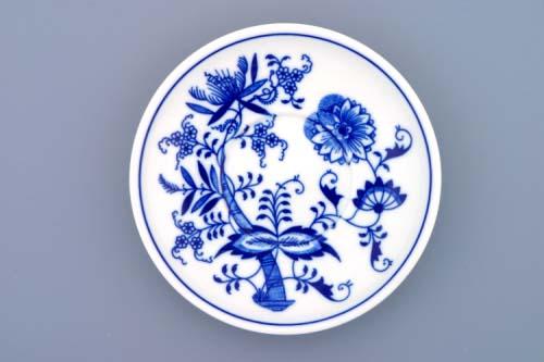 Cibulák Podšálek Ben M 15,3 cm originální cibulákový porcelán Dubí, cibulový vzor,