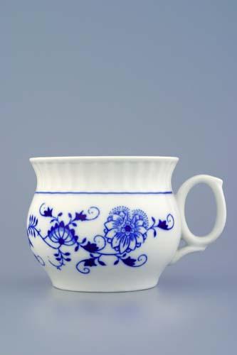 Cibulák hrnek Darume 0,29 l, originální cibulákový porcelán Dubí, cibulový vzor,