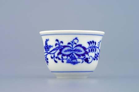 Cibulák Kalíšek Ali M 0,04 l originální cibulákový porcelán Dubí, cibulový vzor,
