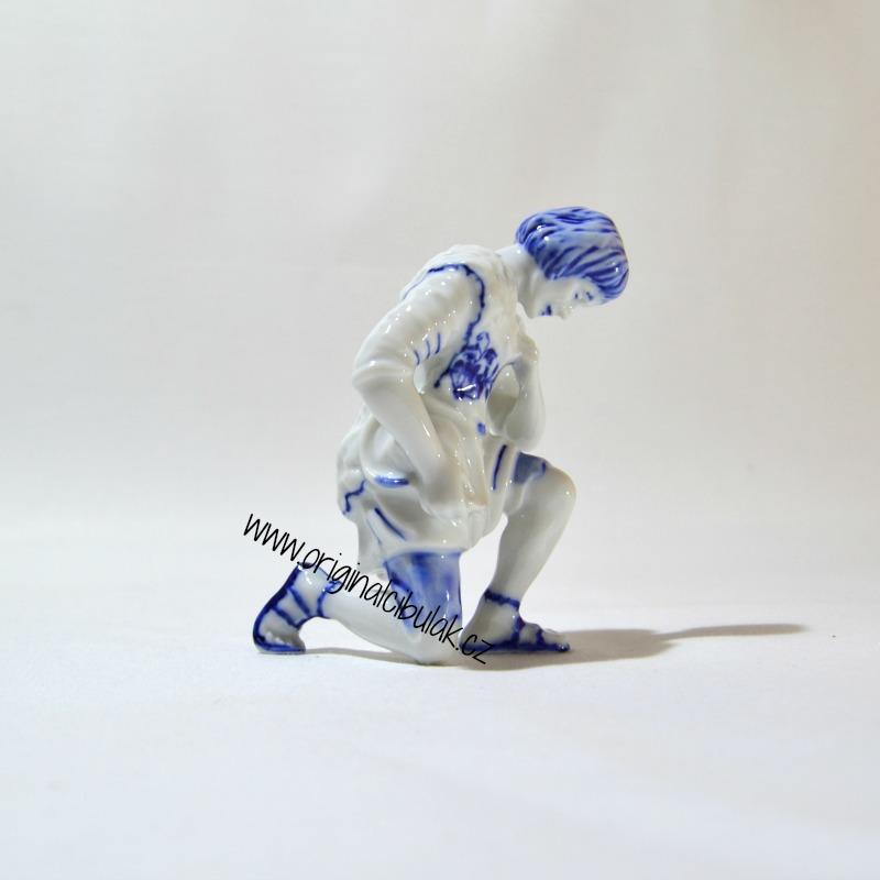 Cibulák Ovčák 11 cm originální cibulákový porcelán Dubí, cibulový vzor,