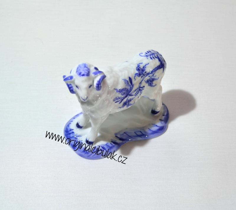 Cibulák Beran 10,5 cm originální cibulákový porcelán Dubí, cibulový vzor,