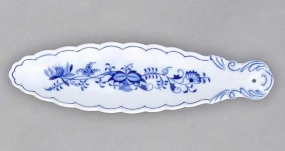 Cibulák stojánek na vonnou tyčinku 21,7 cm originální cibulákový porcelán Dubí, cibulový vzor,