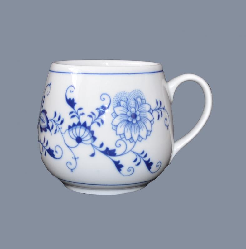 Porcelán Cibulák hrnek Irena 0,40 l originální cibulákový porcelán Dubí, cibulový vzor