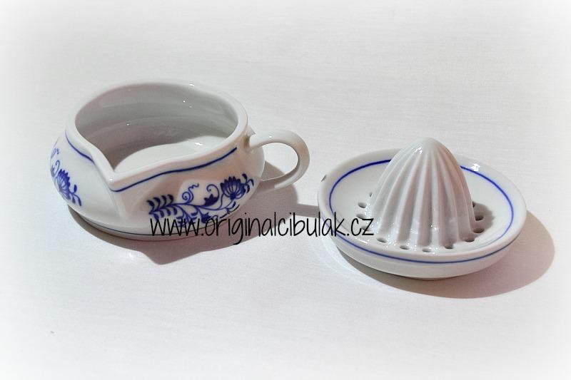 Cibulák Lis na citrón 10 cm originální cibulákový porcelán Dubí, cibulový vzor