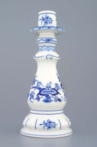 Cibulák Svícen 1982, 21,5 cm originální cibulákový porcelán Dubí, cibulový vzor
