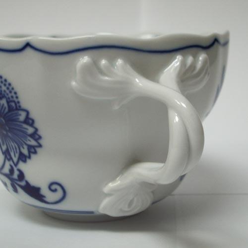 Cibulák šálek + podšálek D+D balení po 1kuse 0,35 l originální cibulákový porcelán Dubí, cibulový vzor,