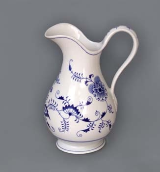 džbán cibulák 5 L hygienická souprava český porcelán Dubí