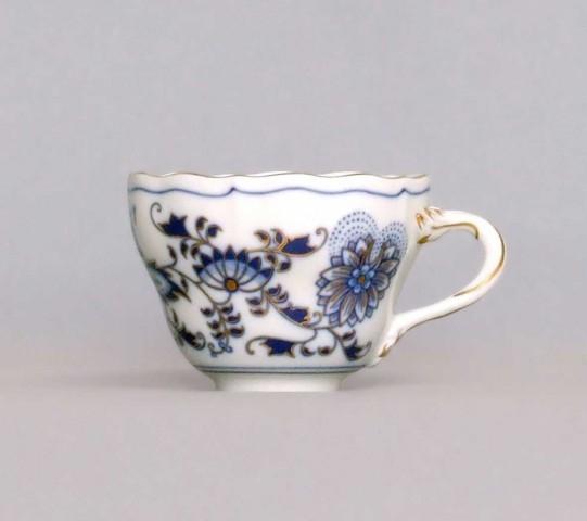Šálek vysoký A/1 , 0,12 l, originální cibulák zlacený, cibulový porcelán Dubí
