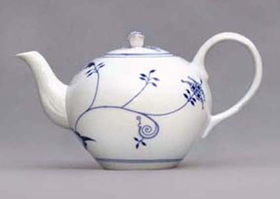 Konvice čajová se sítkem s víčkem 1,2 cm ECO cibulák, cibulový porcelán Dubí