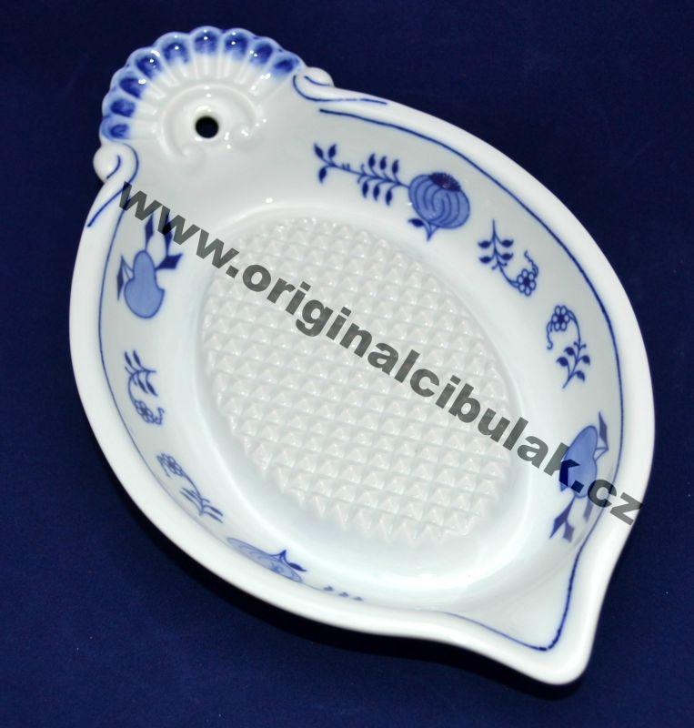 Cibulák struhadlo na jablka, 23 cm, originální cibulákový porcelán Dubí, cibulový vzor