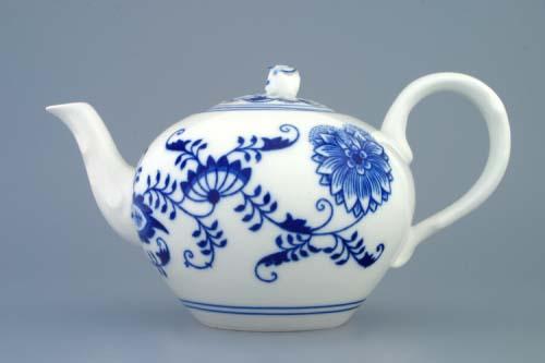Cibulák konvice čajová s víčkem 0,95 l originální cibulákový porcelán Dubí cibulový vzor