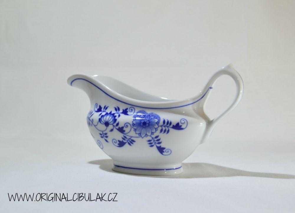 Cibulák omáčník oválný bez podstavce s uchem 0,30 l originální porcelán Dubí 2.jakost