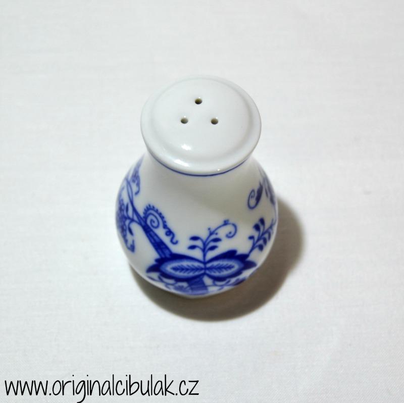Cibulák pepřenka sypací bez nápisu 5 cm , originální cibulákový porcelán Dubí, cibulový vzor, 2.jakost