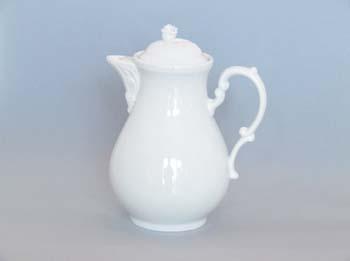 Konvice porcelán bílý kávová s víčkem 0,90 l Český porcelán Dubí
