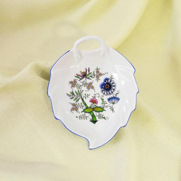 Mísa list 15 cm, NATURE barevný cibulák, cibulový porcelán Dubí