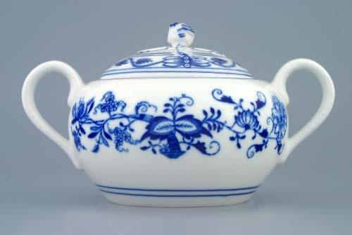 Víčko k cibulákové cukřence s oušky 0,50 l originální cibulákový porcelán Dubí, cibulový vzor