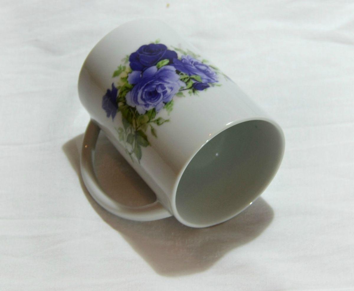 Hrnky s potiskem porcelánové Český porcelán a.s. Dubí Silke Růže modrá