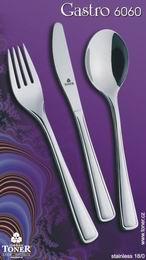 Příbory TONER Gastro sada jídelní 24 ks pro 6 osob nerez 6060