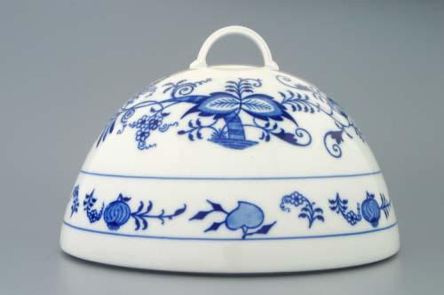 Cibulák Cloche poklop na potraviny 20 cm originální cibulákový porcelán Dubí, cibulový vzor,