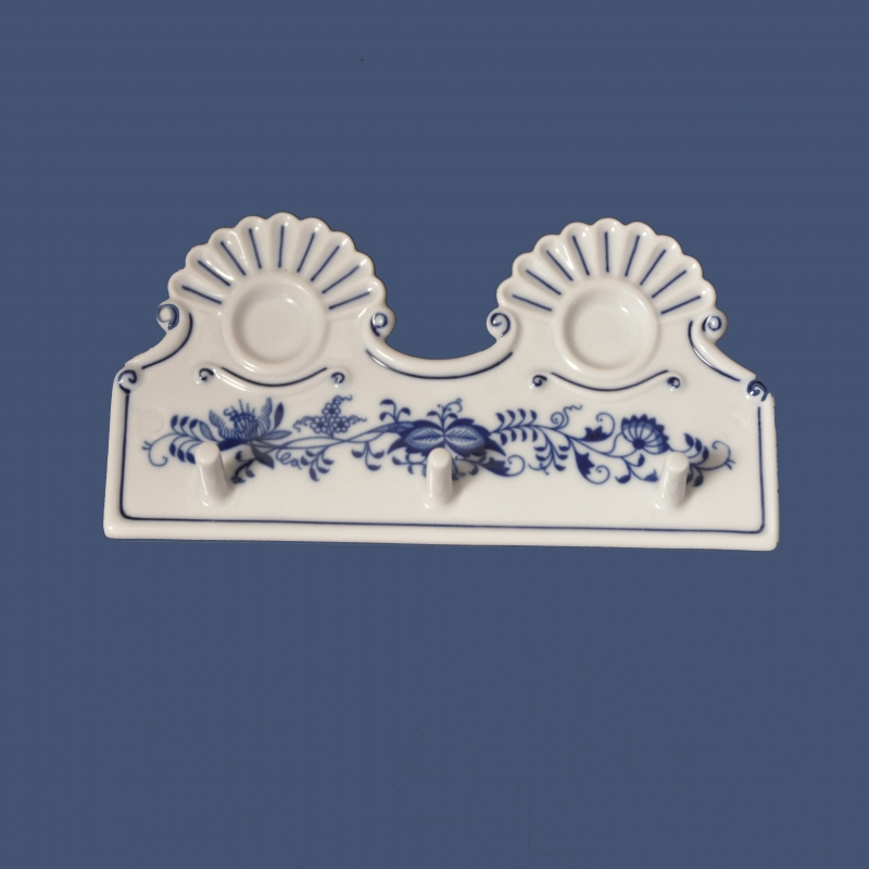 Cibulák kuchyňský věšák 18 cm originální cibulákový porcelán Dubí, cibulový vzor,