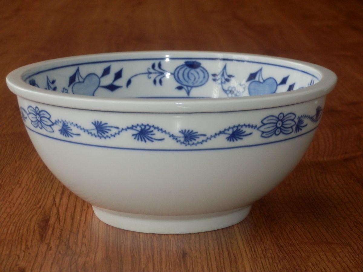 Cibulák Mísa kulatá Bep5 19,5cm originální cibulákový porcelán Dubí, cibulový vzor,