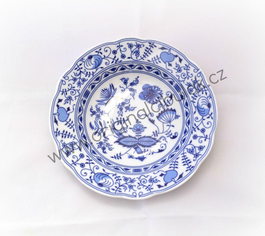 cibulák talíř hluboký 23 cm Leander cibulákový porcelán