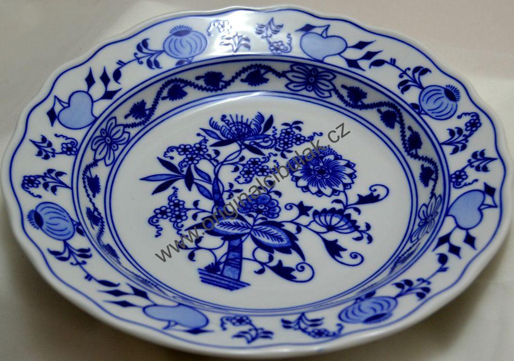 Český porcelán, Dubí cibulák, talíř hluboký 24 cm