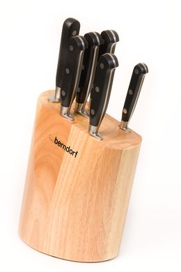 souprava nožů 6 ks v dřevěném bloku Sandrik Berndorf Profi Line