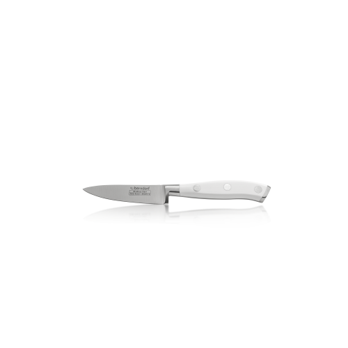 nůž kuchyňský na zeleninu Berndorf Sandrik ocel čepel 8,5 cm Profi Line Exclusive bílý
