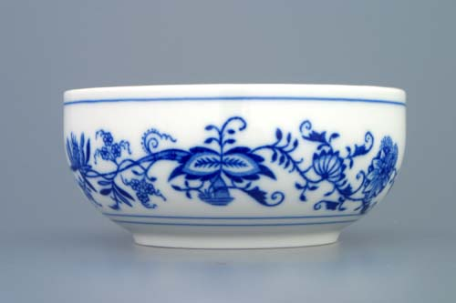 Cibulák Miska hladká vysoká 13,2 cm originální cibulákový porcelán Dubí , cibulový vzor, 2. jakost
