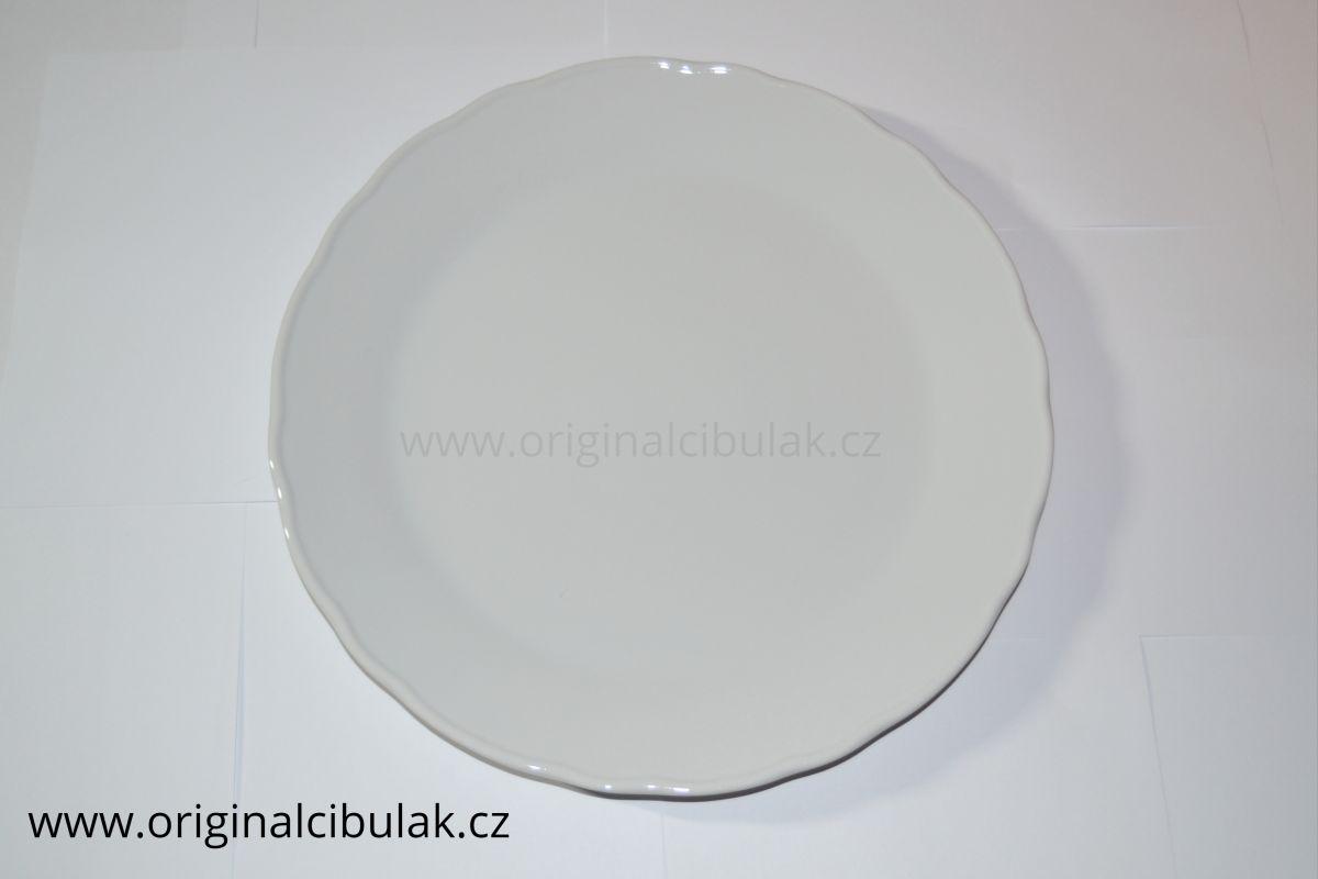 Talíř klubový bílý 30 cm český porcelán Dubí
