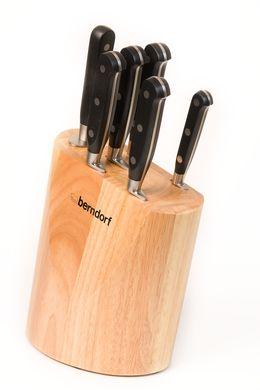 Kuchyňské nože 6ks sada nožů Berndorf Profi line dřevěný blok stojan