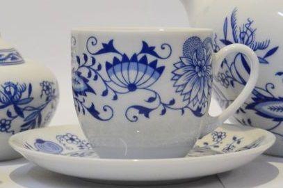 cibulák Henriette šálek a podšálek 155 kávový henrieta Saphyr Thun 1 ks cibulákový porcelán Nová Role