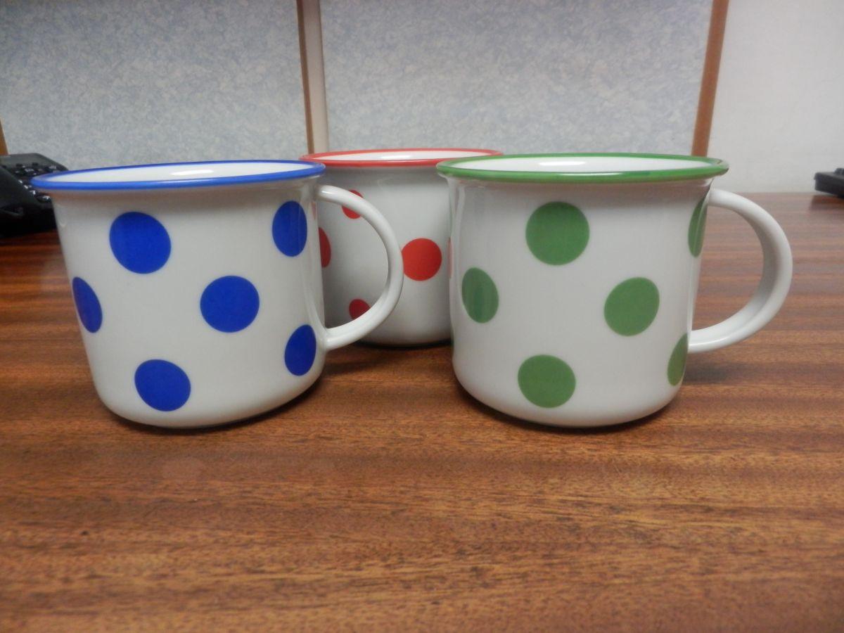 hrnek modré puntíky velké 0,26 l český porcelán Dubí
