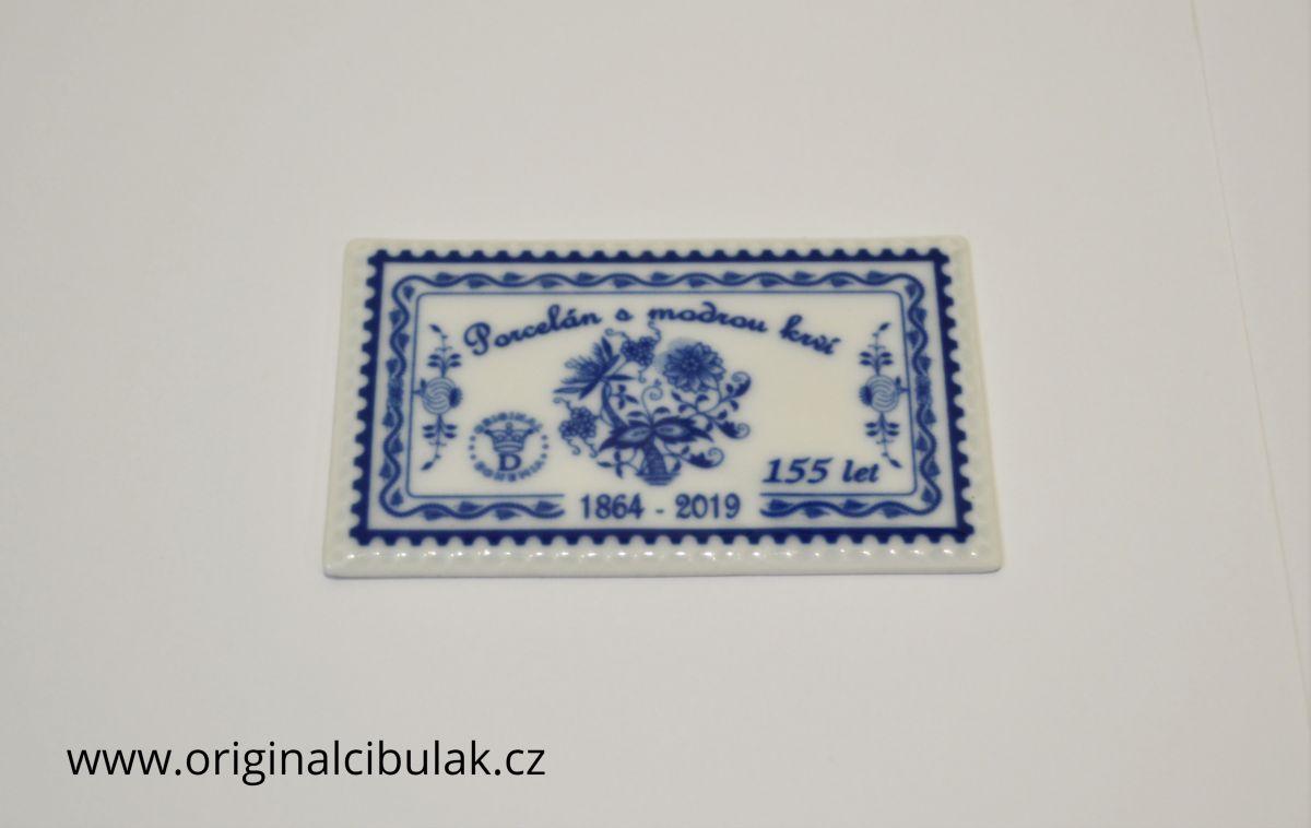 známka poštovní cibulák Dubí 155 let cibulový porcelán