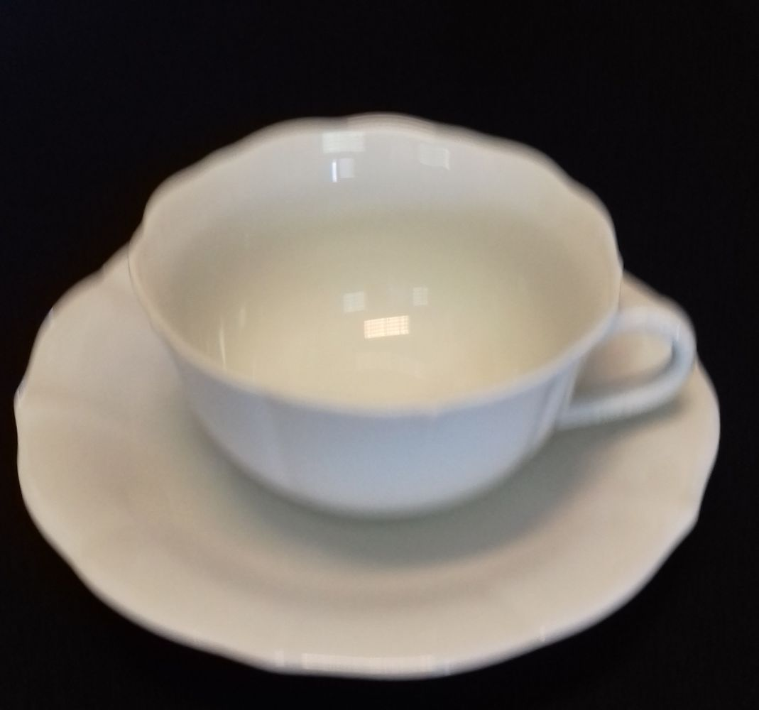 Šálek a podšálek čajový 0,2 l bílý českýporcelán Dubí