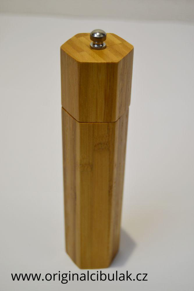 mlýnek na sůl a pepř koření bambusový