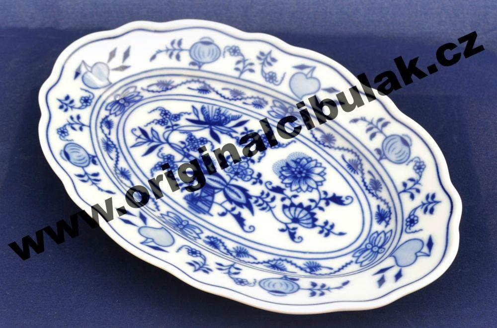 mísa cibulák oválná 20 cm originální český porcelán Dubí