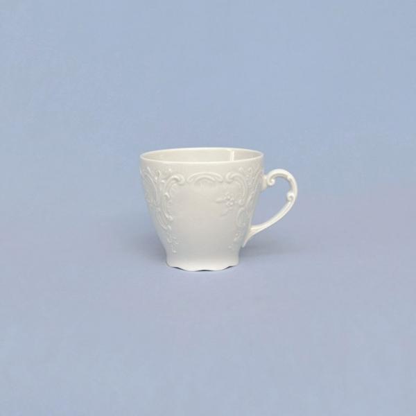 šálek a podšálek káva bílý porcelán Opera 0,15 l Český porcelán Dubí