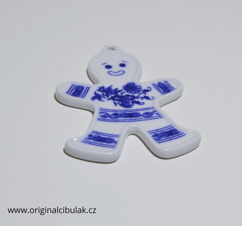 panáček cibulák vánoční ozdoba 8cm český porcelán Dubí