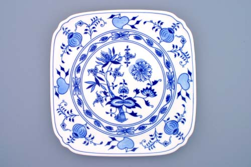 cibulák talíř hranatý 29 cm originální český porcelán Dubí
