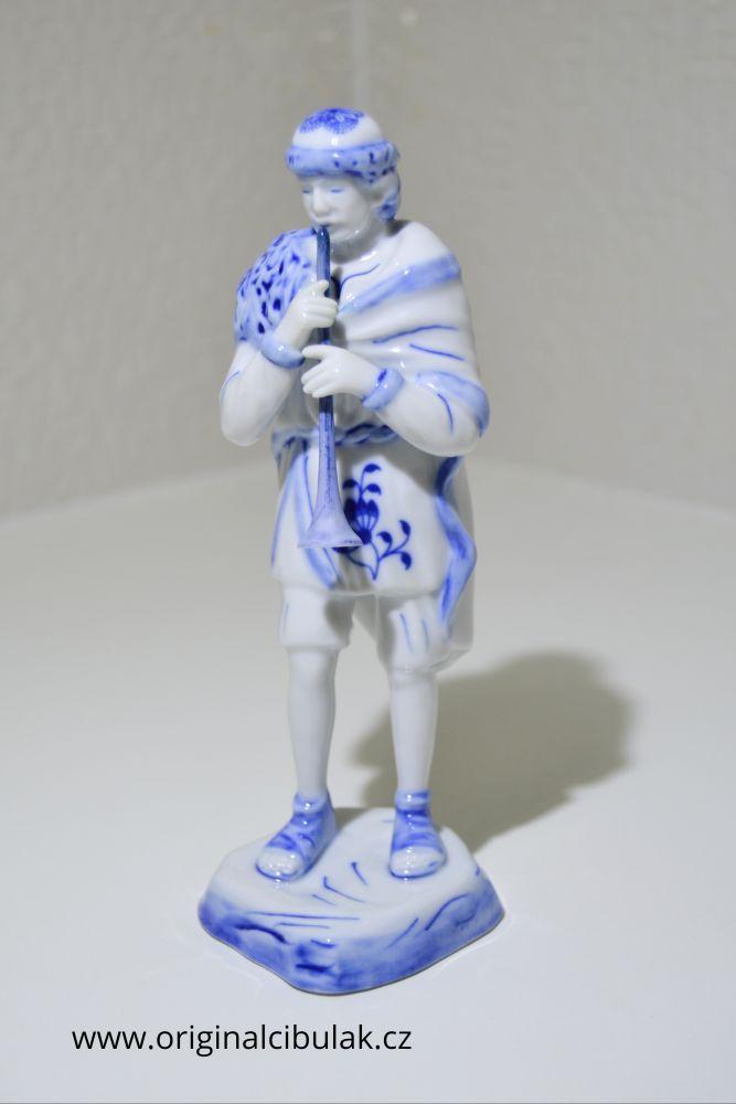 cibulák pasáček s píšťalkou 18 cm originální český porcelán Dubí Royal Dux Bohemia