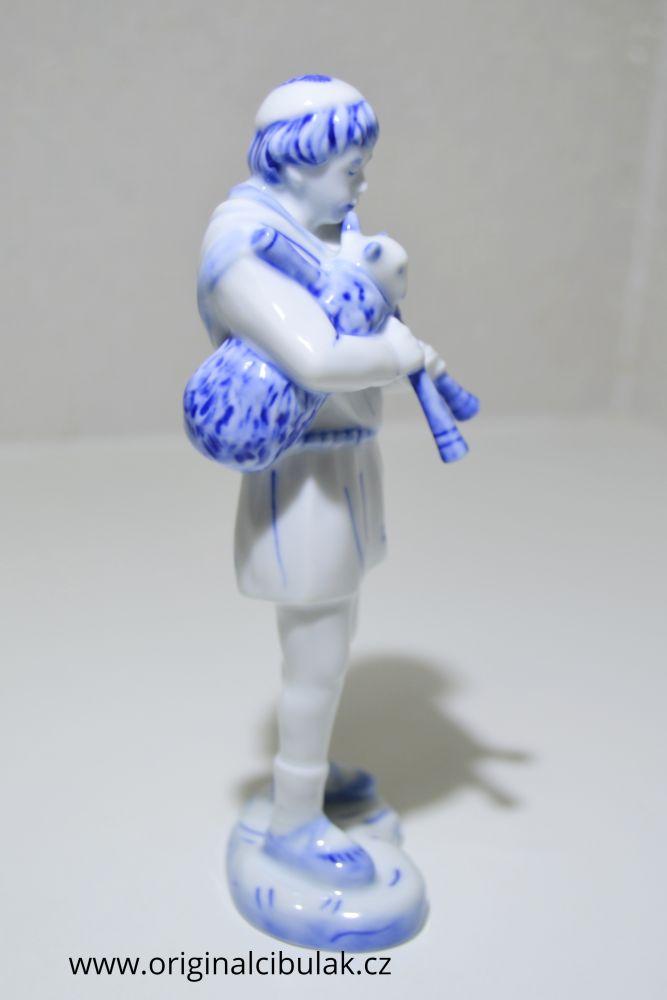 cibulák dudák 18 cm originální český porcelán Dubí Royal Dux Bohemia