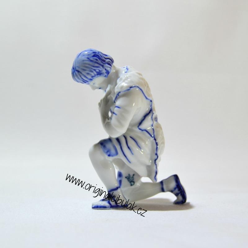 cibulák ovčák 11 cm originální český porcelán Dubí Royal Dux Bohemia 2.jakost