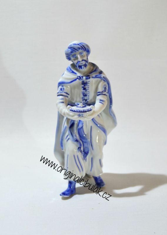 Cibulák Král Kašpar 16 cm originální český porcelán Dubí Royal Dux Bohemia 2.jakost