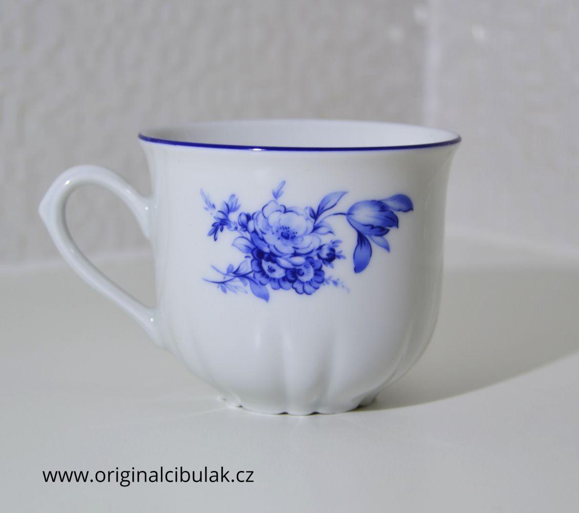 šálek káva Rose růže modrá Thun 1 ks český porcelán Nová Role