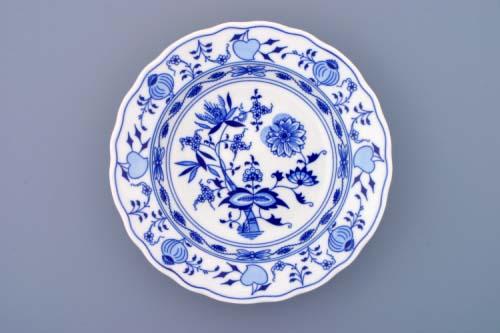 Český Porcelán cibulák Talíř hluboký 21 cm- originální cibulový porcelán Dubí 1.jakost 10001